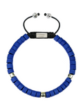 Men's Ceramic Bead Bracelet Blue and Silver | Clariste Jewelry