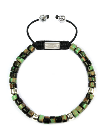 Men's Ceramic Bead Bracelet Camouflage