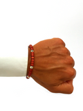 Men's Ceramic Bead Bracelet Red and Silver | Clariste Jewelry - 2