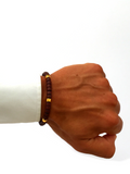 Men's Ceramic Bead Bracelet Brown and Gold | Clariste Jewelry - 2