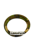 Women's Camouflage Double-Wrap Suede Bracelet with Silver Lock | Clariste Jewelry - 1