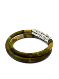 Men's Camouflage Double-Wrap Suede Bracelet with Silver Lock | Clariste Jewelry - 2
