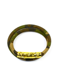 Women's Camouflage Double-Wrap Suede Bracelet with Gold Lock | Clariste Jewelry - 1