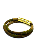 Women's Camouflage Double-Wrap Suede Bracelet with Gold Lock | Clariste Jewelry - 2