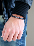 Men's Macrame Bracelet with Matte Onyx | Clariste Jewelry - 2