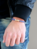 Men's Macrame Bracelet with Blue Lapis | Clariste Jewelry - 2