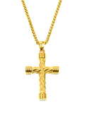 Men's Necklace with Twisted Cross Gold | Clariste Jewelry
