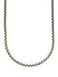 Men's Box Chain Necklace Silver | Clariste Jewelry