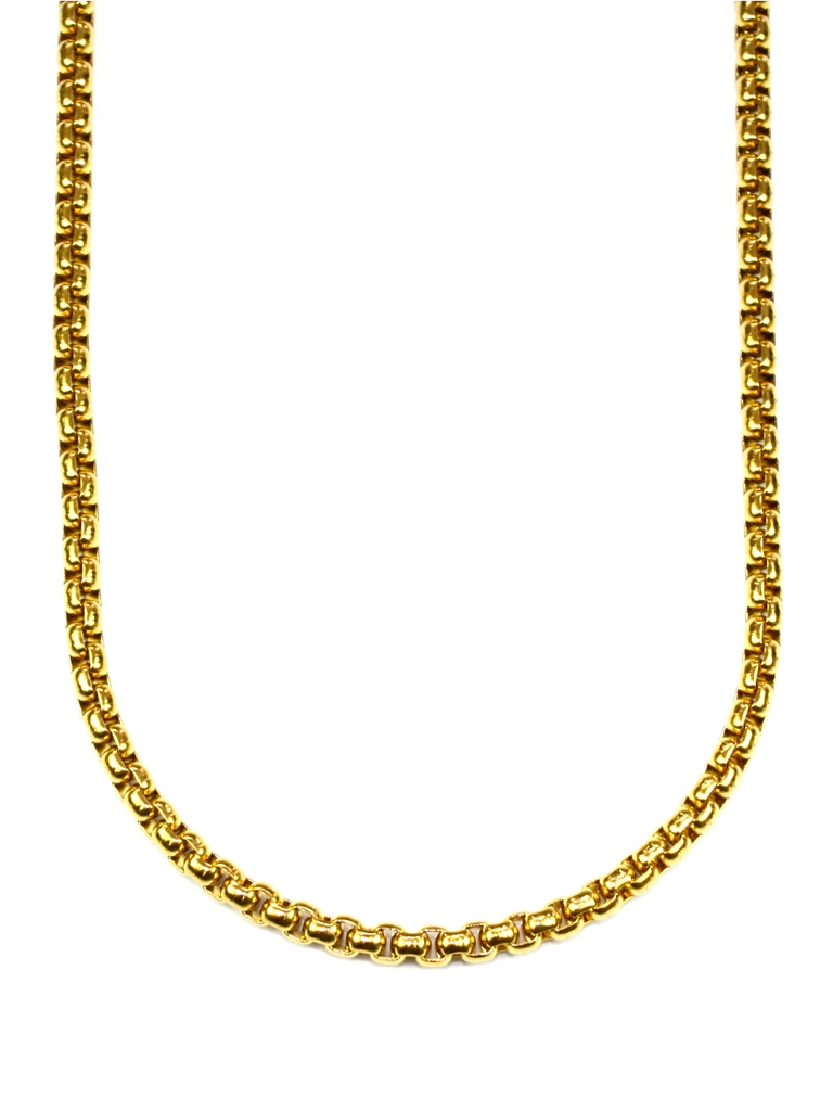 Men's Box Chain Necklace Gold