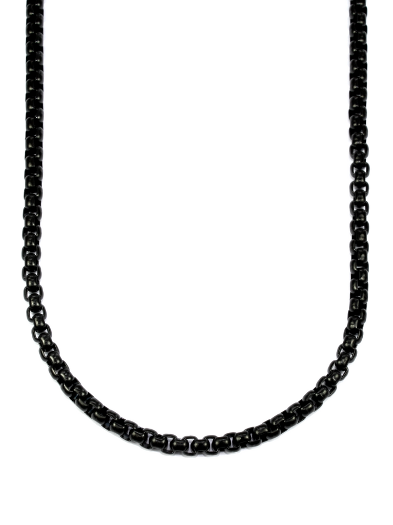 Men's Box Chain Necklace Black