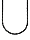 Men's Box Chain Necklace Black | Clariste Jewelry