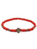Men's Skull Bracelet Red and Black | Clariste Jewelry
