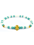 Men's Skull Bracelet Turquoise, White and Gold | Clariste Jewelry