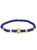 Men's Skull Bracelet Blue and Gold | Clariste Jewelry