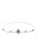 Men's Skull Bracelet White and Silver