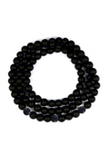Men's Triple Wrap Bracelet with Matte Onyx Black - Clariste Jewelry