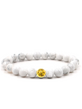 Men's Wristband with Howlite Gold | Clariste Jewelry