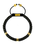 Women's Ceramic Bead Bracelet Black and Gold | Clariste Jewelry