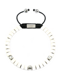Women's Ceramic Bead Bracelet White and Silver | Clariste Jewelry