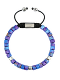 Women's Ceramic Bead Bracelet Purple Graffiti | Clariste Jewelry