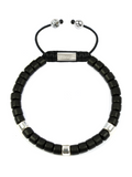 Women's Ceramic Bead Bracelet Black and Silver | Clariste Jewelry