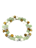 Women's Double Beaded Bracelet with Aventurine, Jasper and Howlite | Clariste Jewelry
