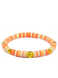 Women's Beaded Heishi Bracelet Peach | Clariste Jewelry