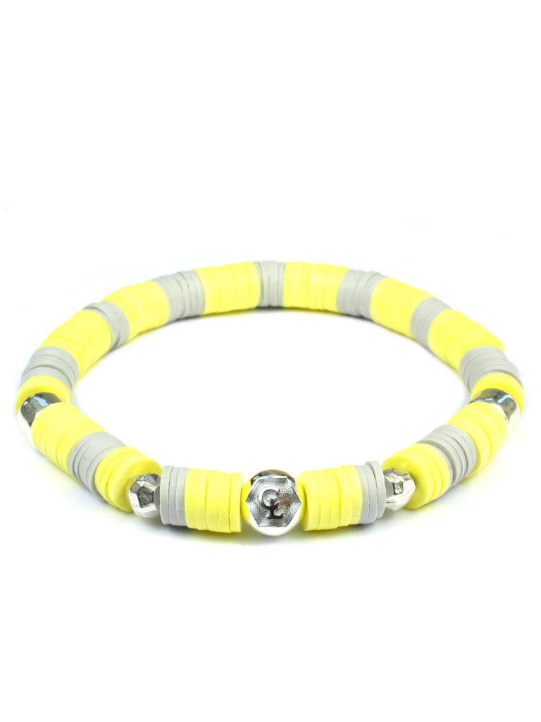 Women's Beaded Heishi Bracelet Yellow