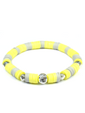 Women's Beaded Heishi Bracelet Yellow | Clariste Jewelry