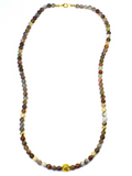 Women's Necklace with Botswana Agate, CZ Diamonds and Gold | Clariste Jewelry - 2