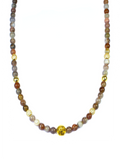 Women's Necklace with Botswana Agate, CZ Diamonds and Gold | Clariste Jewelry