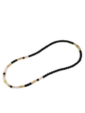 Women's Beaded Necklace with Sunstone and Black Agate | Clariste Jewelry - 2
