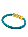 Women's Turquoise Stingray Bracelet with Gold Lock | Clariste Jewelry - 3