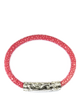 Women's Pink Stingray Bracelet with Silver Lock | Clariste Jewelry - 2