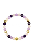 Women's Wristband with Amethyst, Rose Quartz and Amethyst Lavender | Clariste Jewelry