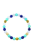 Women's Wristband with Turquoise, Blue Lace Agate and Blue Lapis | Clariste Jewelry