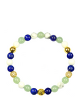 Women's Wristband with Aventurine, Blue Lapis and Howlite | Clariste Jewelry