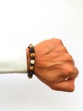 Men's Beaded Bracelet with Jasper, Matte Onyx, CZ Diamonds | Clariste Jewelry - 2
