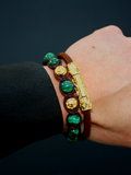 Men's Beaded Bracelet with Malachite | Clariste Jewelry - 2