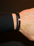Men's Double Beaded Bracelet with Hematite, Matte Onyx and Silver | Clariste Jewelry - 2