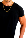 Men's Box Chain Necklace Gold | Clariste Jewelry - 3