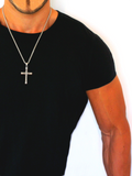 Men's Necklace with Twisted Cross Silver | Clariste Jewelry - 3