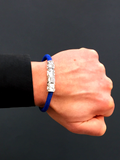 Men's Blue Stingray Bracelet with Silver Lock | Clariste Jewelry - 5