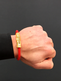 Men's Red Stingray Bracelet with Gold Lock | Clariste Jewelry - 5