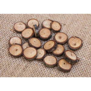 1 - 2 Cm Wood Slices (20 Pack) - Small Wood Slices