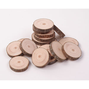 2 - 4 Cm Wood Slices (20 Pack) - Small Wood Slices