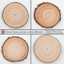 Load image into Gallery viewer, 24 Piece Wood Slice Craft Pack - Wood slice kits