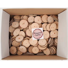 Load image into Gallery viewer, 4 - 6 Cm Wood Slices (100 Pack) - Small Wood Slices