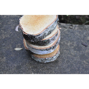 5 pack | Silver Birch (3 - 5/7.5 - 12.5 cm) - 2.5 cm (1) thick - Large wood slices