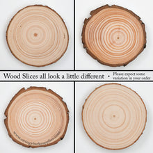 Load image into Gallery viewer, 6 - 8 Cm Wood Slices (100 Pack) - Small Wood Slices